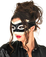 Glued Rubber Frilled Maid Mask