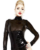 Glued Latex Noir Panel Blouse