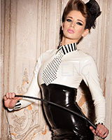 Glued Latex Cherie Shirt with Tie