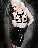Glued Black Latex Captivate O-Ring Skirt