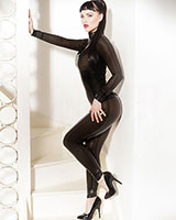 Herrenleggings aus geklebtem smokeytransparentem Latex