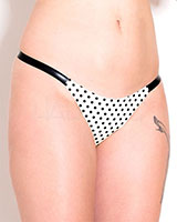 Glued Latex Polly Polka Dot Thong