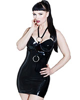Devotion Glued Black Latex Exposure Dress