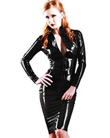 Glued Black Rubber SophistiCat Pencil Skirt
