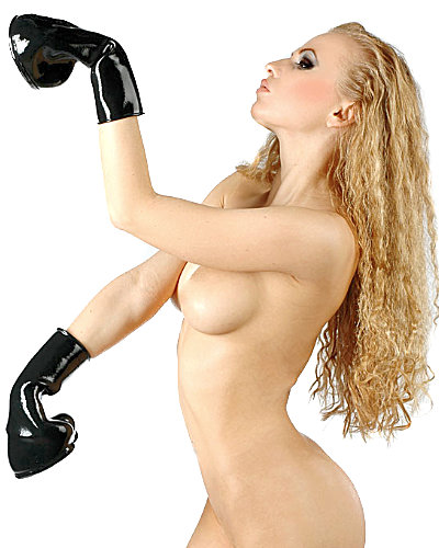 Anatomical Moulded Fetisso Latex Hoof Mittens