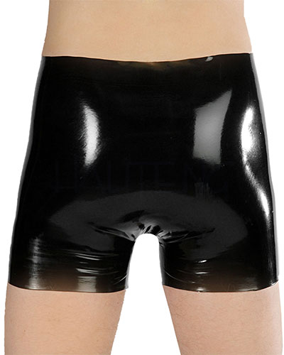 Anatomical Latex Briefs Shorts Open Cock and Ball Sheath