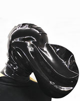 Latex Breathing Control Mask with Zipper