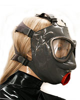 Gasmask with Internal Condom