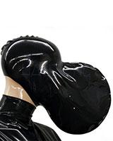 Atemkontrollmaske aus Latex mit grossem Atembeutel
