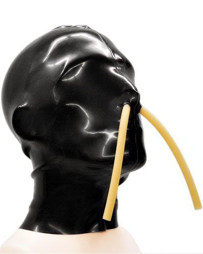 Glued Latex Hood with Breathing Pipes