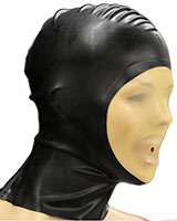 Glued Latex Hood with Transparent Face And Zipper