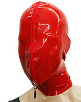 Glued Latex Hood with Zipped Front Panel