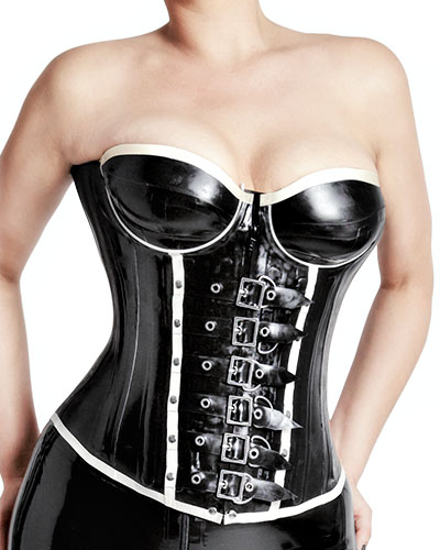 Glued Latex Overbust Corset - 0.7 mm
