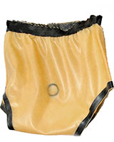 Double Layer Latex Diaper Pants with Cock Ring