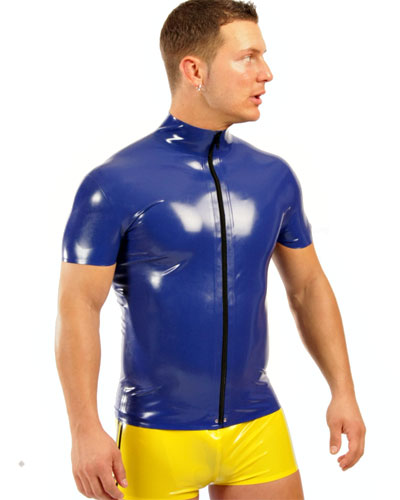 Glued Latex Zipped Shirt - Made to Measure Available