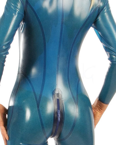 Glued Latex Catsuit with 3 Way Zip - Made to Measure Available