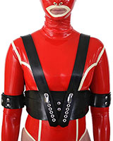 Thick Rubber Underbust Restraints with Braces - Also as Lockable
