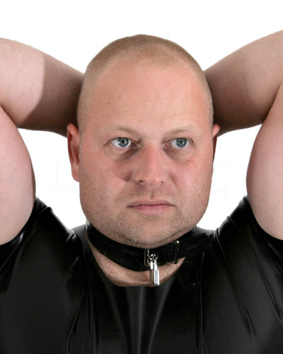 Thick Rubber Neck-Hands Restraints - Also as Lockable
