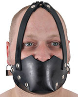 Thick Rubber Muzzle Head Harness - also as Lockable
