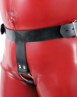Thick Rubber Harness with Cockring - also as Lockable