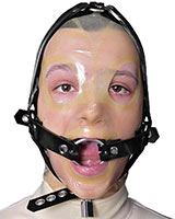 Rubber Face Harness with O-Ring Gag - also as Lockable