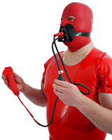 Sheath with Tube and Mouth Mask with Piss Gag