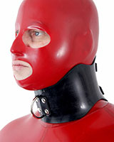 Rubber Posture Collar with D-Ring - also as Lockable