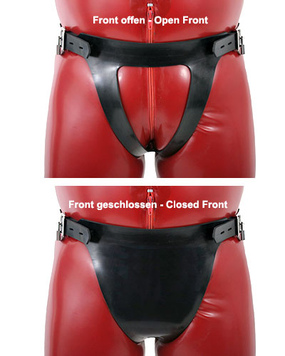 Heavy Rubber Harness for Lockable Plugs - also for Ladies