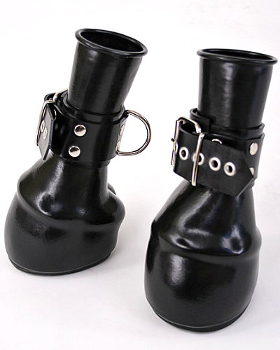 Anatomical Latex Hoof Mittens with (Lockable) Cuffs