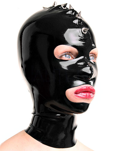 Latex Hood with Spikes - Optional with Zip