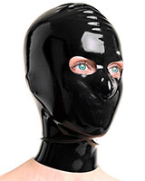 Latex Hood with Eyes Openings - Optional with Zip