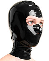 Latex Hood with Eyes Opening - Optional with Zip