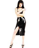 Rubber Skirt with Slit - Optional with Zipper
