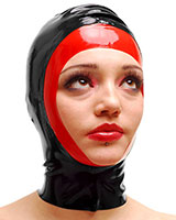 Latex Two Colour Open Face Hood - also Available with Zip