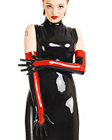 Latex Bi-Colour Shoulder Gloves - also with Zipper