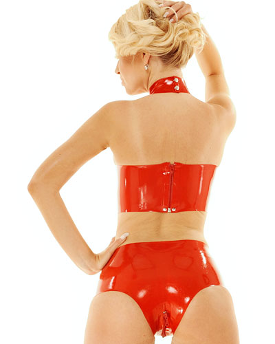 Latex Briefs with 2-Way Crotch Zipper