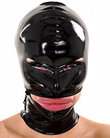 Latex Hood with Wide Mouth Zipper - Optional with Back Zip