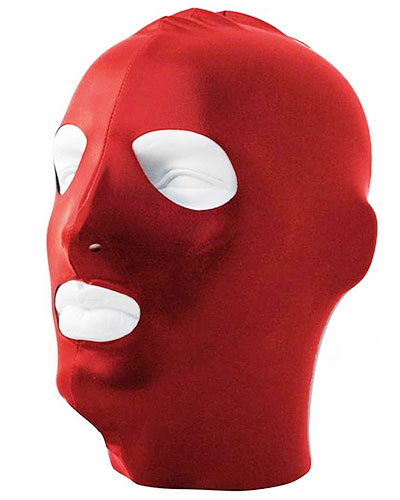 Datex Hood with Mouth and Eyes Openings - Red