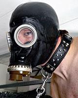 Russische Gasmaske mit Filter