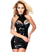 Datex Neckholder Mini Dress with Straps over the Bust