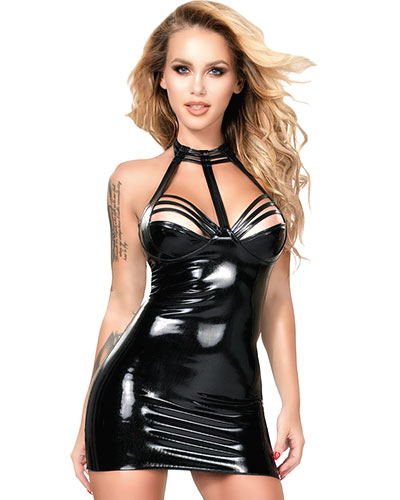 Datex Mini Dress with Neckholder and Straps over the Neckline