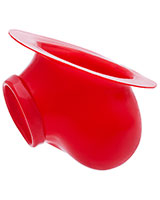 Anatomical Latex Ball Bag Ben with Base Plate - Red