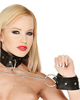 Leather Neck and Arm Restraints