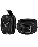 Leather Leg Cuffs with D-Ring - Width 5 cm