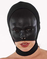 Leather and Stretch Hood for Ladies