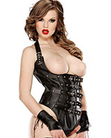 Open Boobs Leather Body - Size M