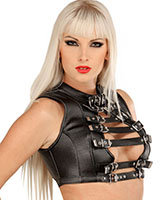Leather Bustier with Buckles