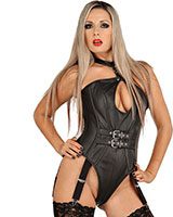Leather Body with Detachable Suspenders