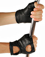 Fingerless Short Leather Gloves