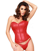Leather Corset with Front Zipper